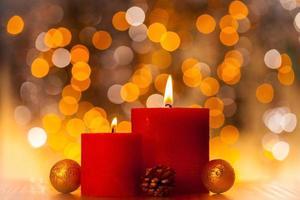 candele di natale foto