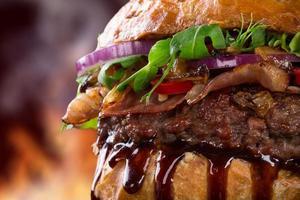 hamburger delizioso foto