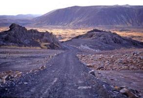Islanda strada remota.