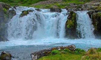 vicino alla cascata, islanda