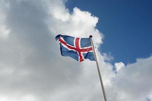bandiera dell'islanda foto