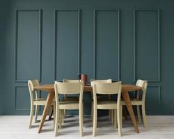 sala da pranzo, 3d, con copia spazio