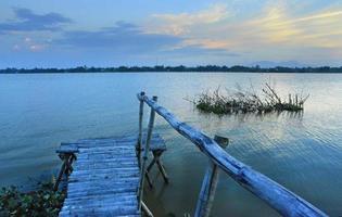 vecchio molo, fiume Thu Bon, Hoi An, Vietnam