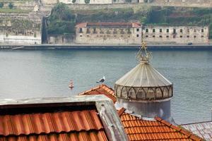 vista sul fiume douro e sui tetti di porto