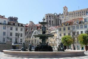 piazza rossio, lisbona, portogallo