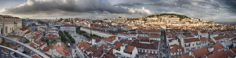 panorama della città di Lisbona dall'alto