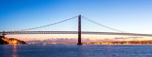 panorama del ponte di Lisbona