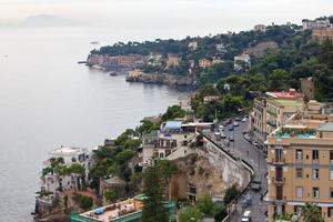 Italia. una baia di napoli. mattina nebbiosa
