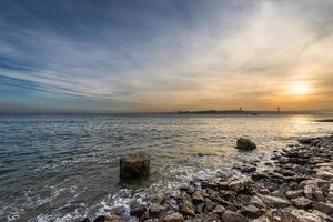 vista del fiume Tago a Lisbona
