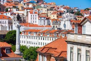 panorama storico della città di lisbona, portogallo