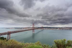 ponte sul fiume Tago a Lisbona