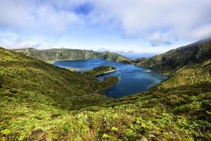 lagoa do fogo lago del cratere, sao miguel, azzorre
