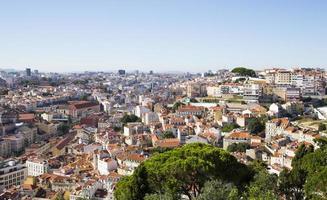 panorama della città storica di lisbona, portogallo