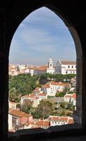 vista dal castelo de sao jorge, lisbona, portogallo.