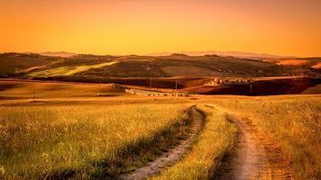 strada di campagna toscana