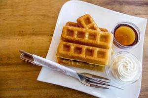 waffle con sciroppo d'acero