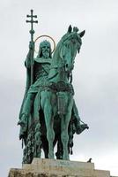 statua del primo re d'ungheria, etienne, a budapest, ungheria
