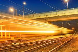 stazione ferroviaria in una sera d'estate
