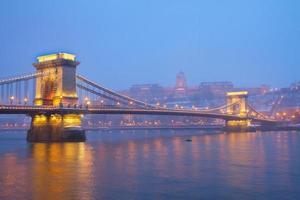 monumenti di budapest di notte, ungheria