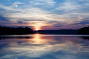 splendida vista sul lago nel distretto di masuria, polonia
