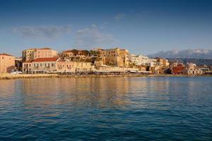 porto di chania, creta, grecia foto