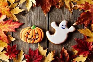 biscotti di panpepato fatti in casa di Halloween foto