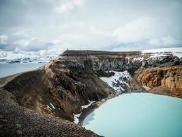 lago del cratere in islanda