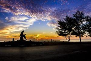 posizione con vista sulla spiaggia e sul golfo della thailandia, songkhl foto