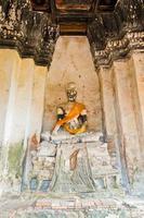 immagine buddha in ayutthaya thailand foto
