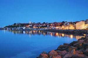 il porto della città vecchia di nessebar, bulgaria foto