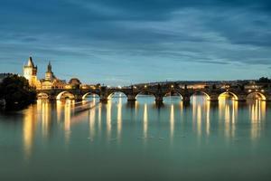 ponte storico di Praga a Praga, repubblica Ceca