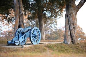 cannone al campo di battaglia nazionale di Yorktown