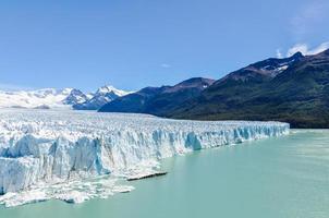 vista laterale, ghiacciaio perito moreno, argentina