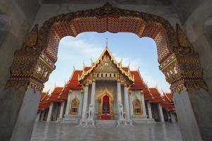 il tempio di marmo, wat benchamabopitr dusitvanaram bangkok, thai foto