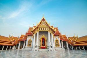 il tempio di marmo, wat benchamabopitr dusitvanaram bangkok thailand foto