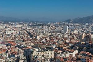 vista degli uccelli della città Marsiglia, Francia foto
