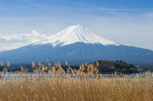 vista fuji a kawaguchiko foto