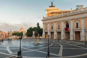 Piazza del Campidoglio a Roma, Italia