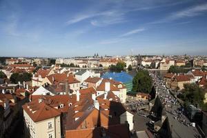panorama estivo di praga, repubblica ceca