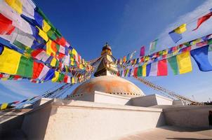 boudhanath, buddha stupa, un sito del patrimonio mondiale, kathmandu, nepal foto