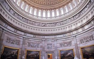 noi capitol dome rotunda dipinti washington dc foto