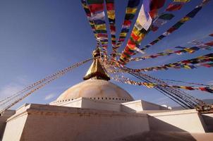 boudhanath, buddha stupa, un sito del patrimonio mondiale, kathmandu, nepal
