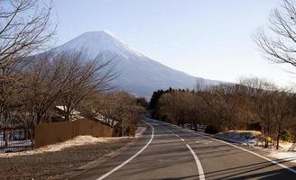 strada per il monte fuji foto
