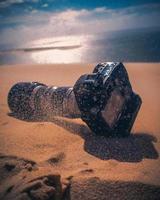 fotocamera nella sabbia