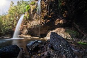 la cascata di haew suwat in thailandia