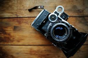 vecchia macchina fotografica. foto