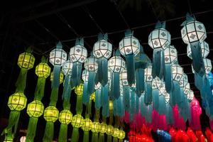 lanterna di carta decorata tradizionale della Tailandia
