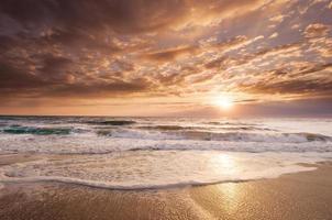 alba dorata della costa orientale della florida foto