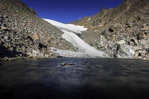 vista ravvicinata del ghiacciaio di Andrews