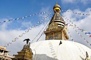 swayambhunath, tempio delle scimmie, kathmandu, nepal
